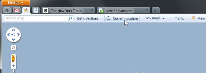 App tabit käytössä hypoteettisessa karttasovelluksessa